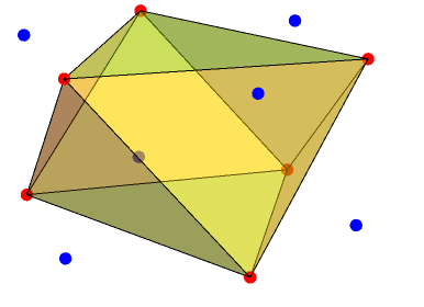 The octahedron with Conway notation lP6