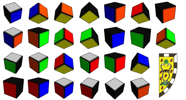 Disassembled cube
