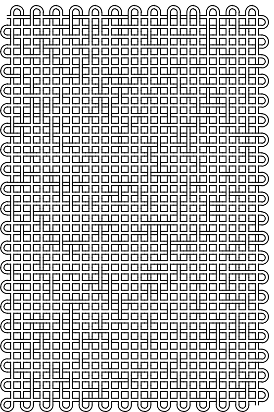 orthogonal-boustrophedons