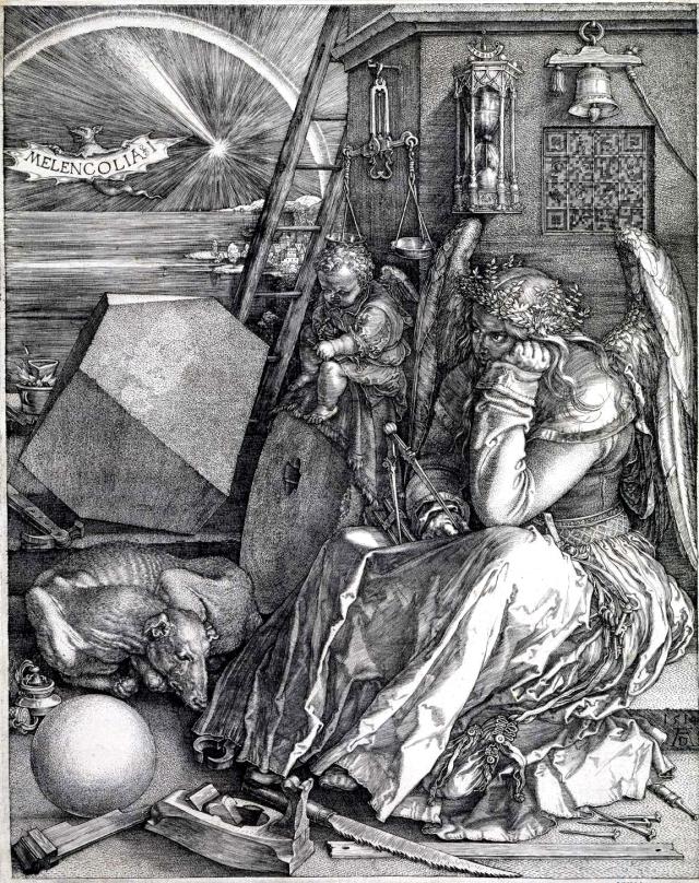 Albrecht Dürer's Melencolia I -- click to enlarge.