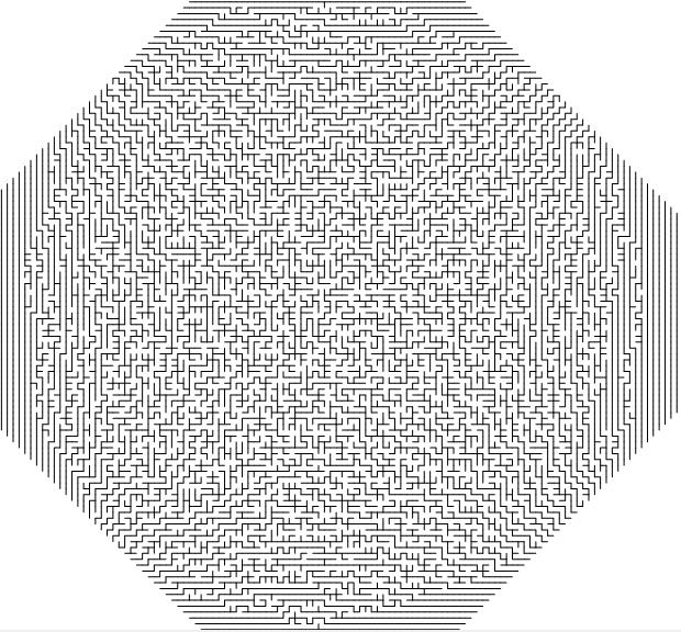 Random circular mazes | Complex Projective 4-Space